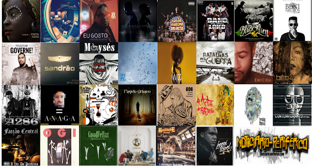 30 melhores albuns de rap de 2015,segundo o Noticiario Periferico