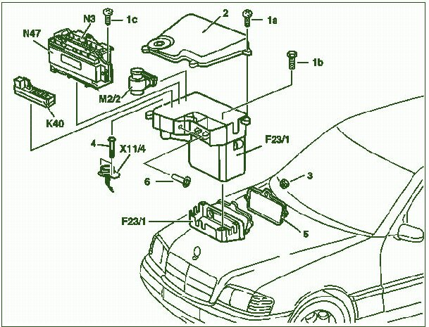 service repair manual fuse box diagram mercedes benz clk 320 2001 rh andymanuals blogspot com Mercedes S500 Fuse Box 2001 mercedes benz s500 fuse box diagram
