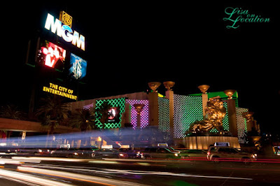 Las Vegas Nevada, MGM Grand at night, New Braunfels photographer
