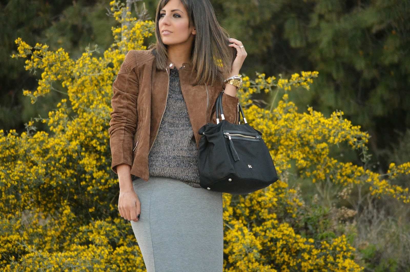 street style cristina style fashion blogger malagueña blogger malagueña chic outfit look casual long skirt mango h&m lovely gorgeous ootd fashion