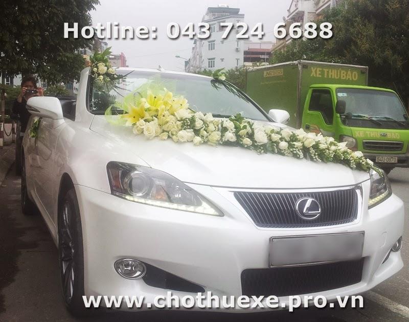 Cho thuê xe cưới Lexus IS250C mui trần màu trắng