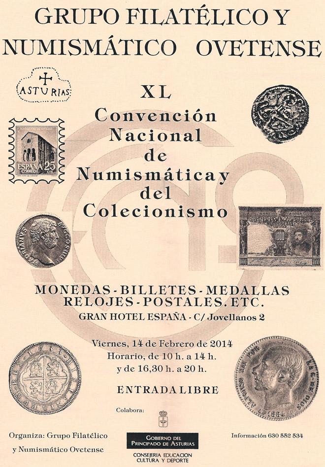 Cartel de la XL Convención de Numismática y Coleccionismo en Oviedo