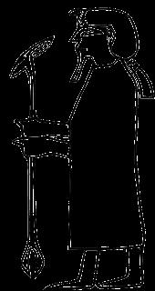 Dibujo que representa al Faraón Semsu de la Primera Dinastía