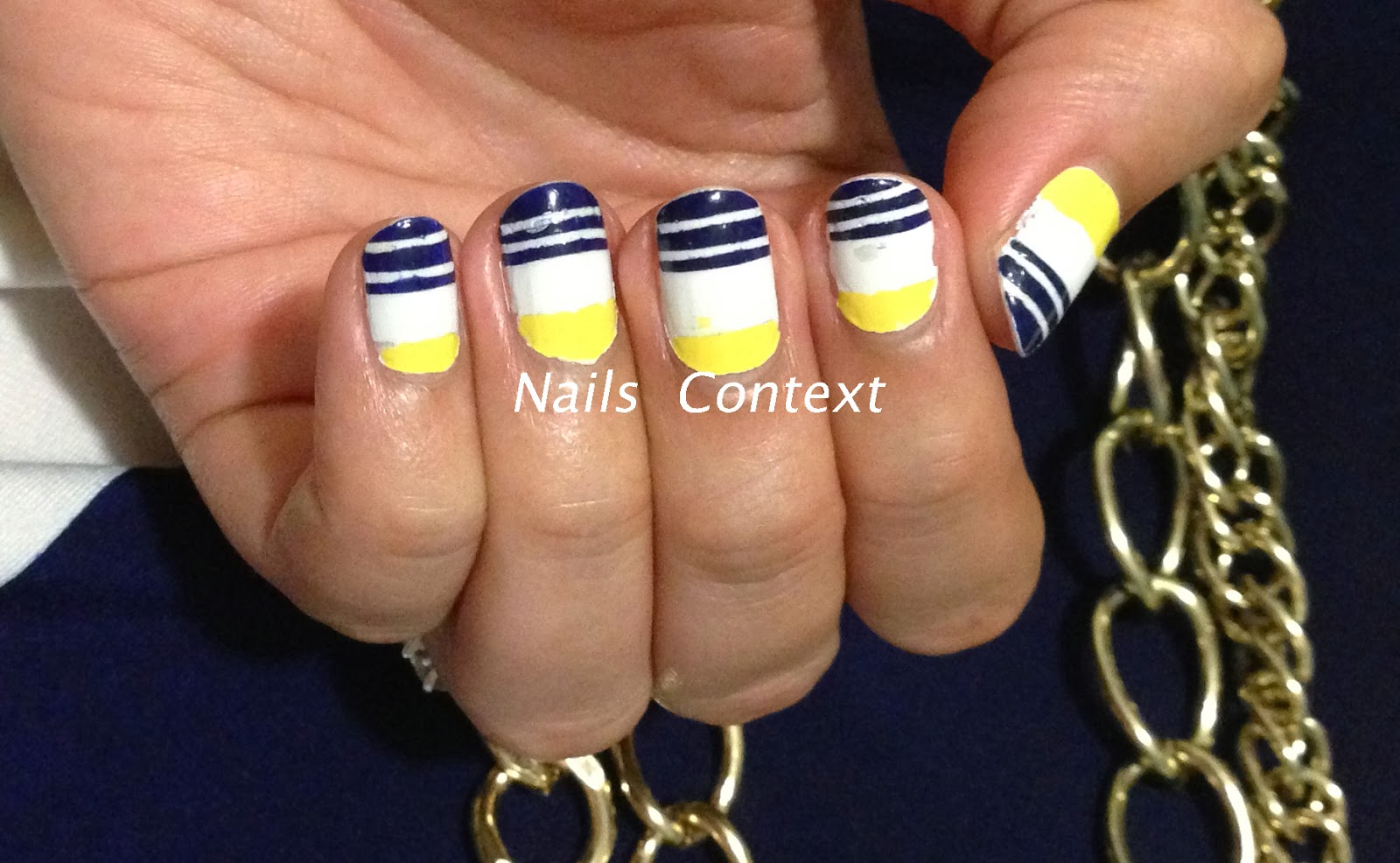Nails Context: Yellow and Navy