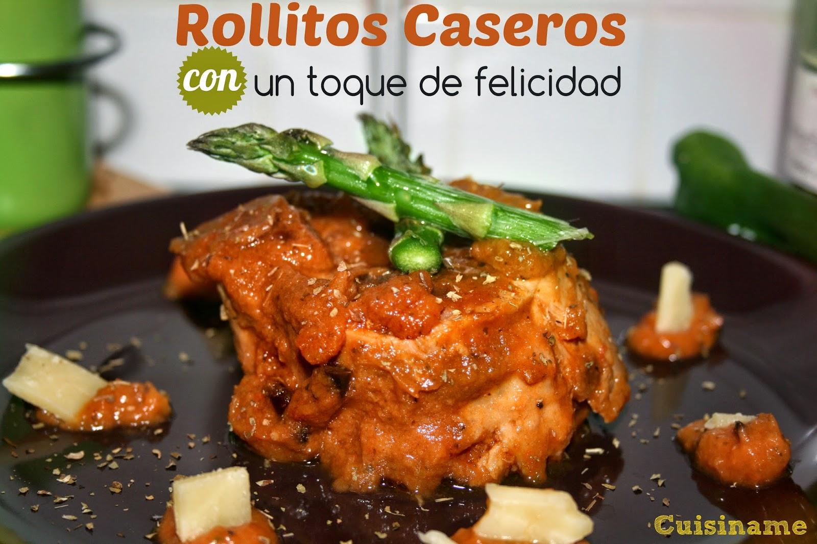 carne, rollitos de solomillo, rollitos de carne, recetas de carne, espárragos trigueros, castañas, salsa, quesos, recetas originales,