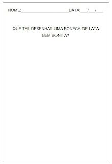 Hipótese de escrita silábica com valor sonoro - Boneca de Lata 2