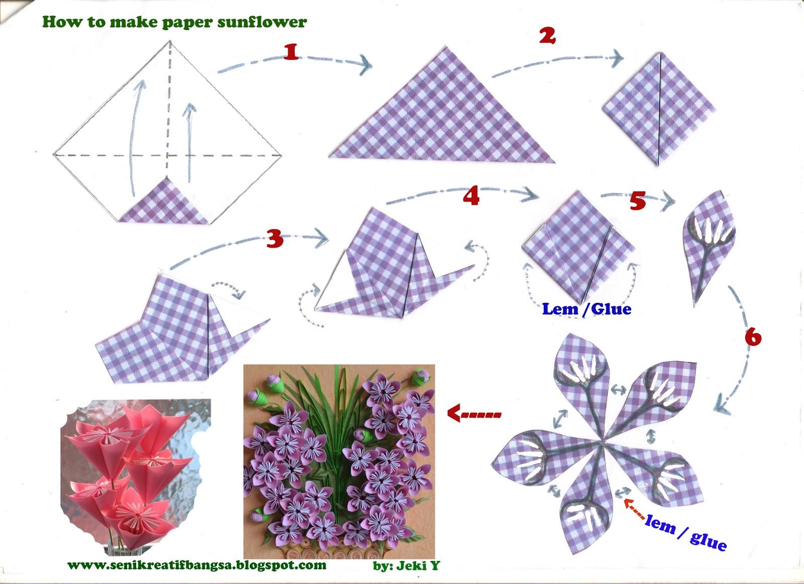 Creative Art / Seni Kreatif: How to.../CARA Origami / DIAGRAM - photo#10