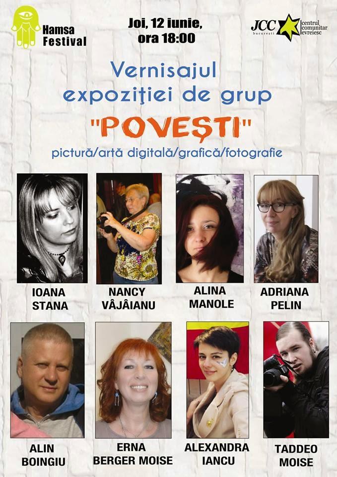 """Expozitie de Grup """"Povesti"""" @JCC Bucuresti, 12 Iunie-15 August 2014"""