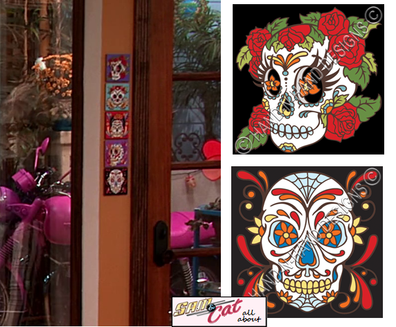 apartment day of the dead skull tiles all about sam and cat