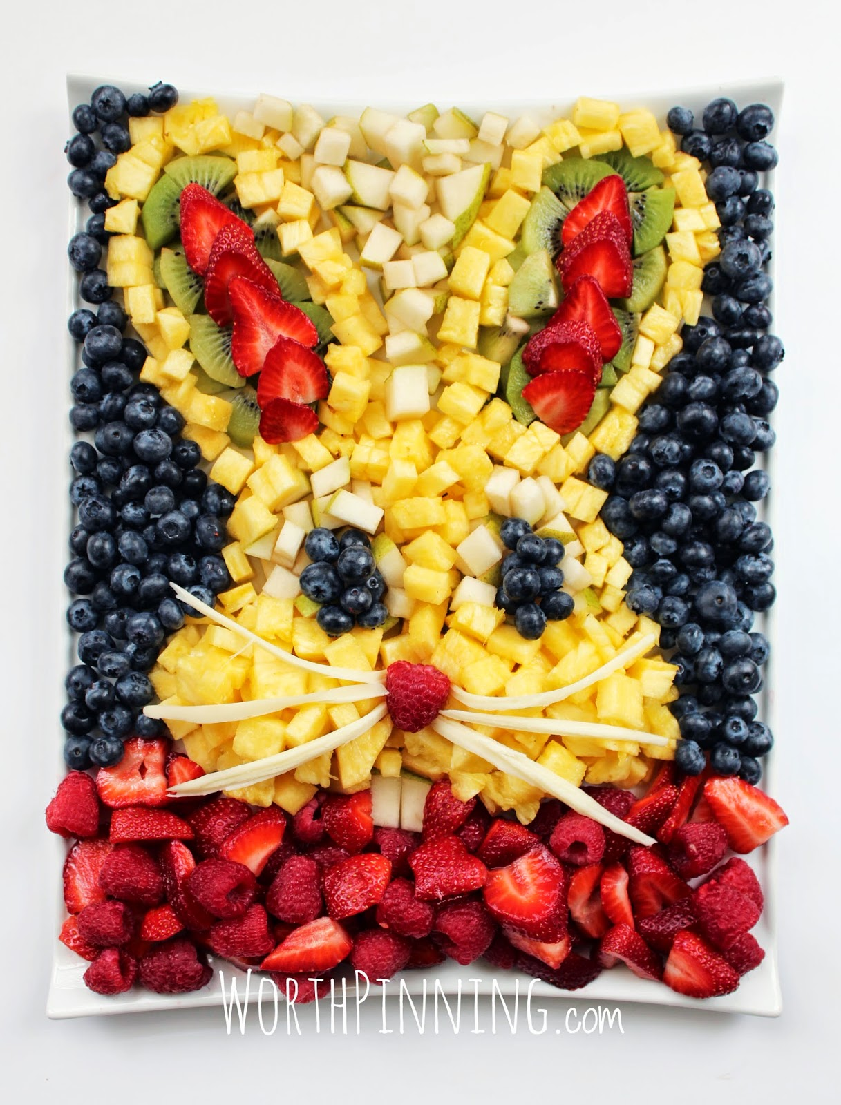 worth pinning bunny head fresh fruit platter