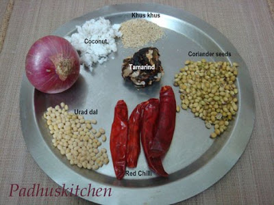 How to make kuzhambu-kathirikai kuzhambu ingredients