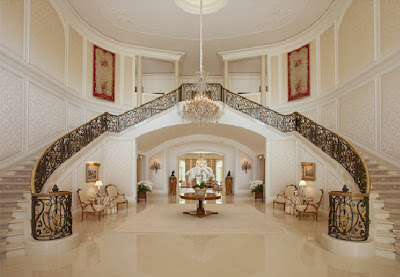 Spelling Mansion Foyer