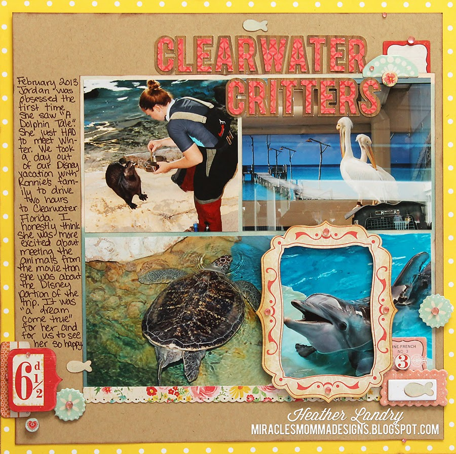 Clearwater Aquarium_Scrapbook Page_Winter