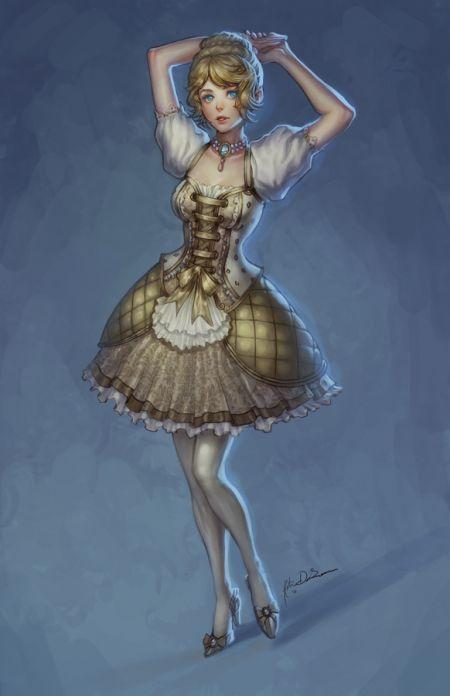Katie de Souza ilustrações fantasia games mulheres Rabiscos de garota