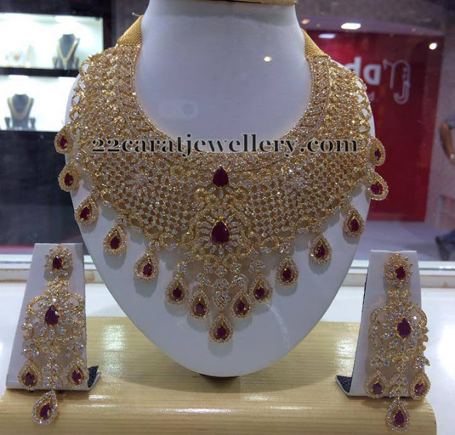 Diamond Look Heavy CZ Bridal Set