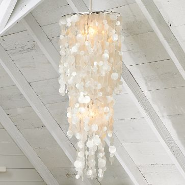 The Knock Off, Friends, Came From The Freshly Picked Blog, And She  Constructed A Capiz Shell Chandelier ...