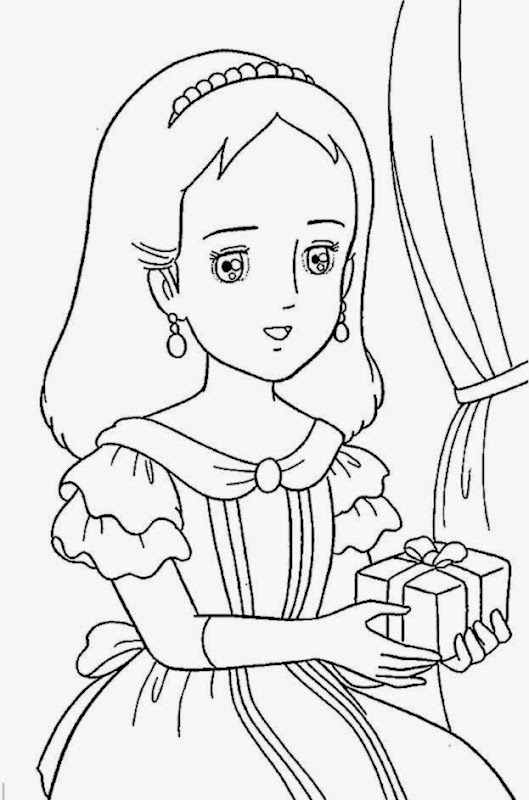 Princess Coloring Pages for Kids Online