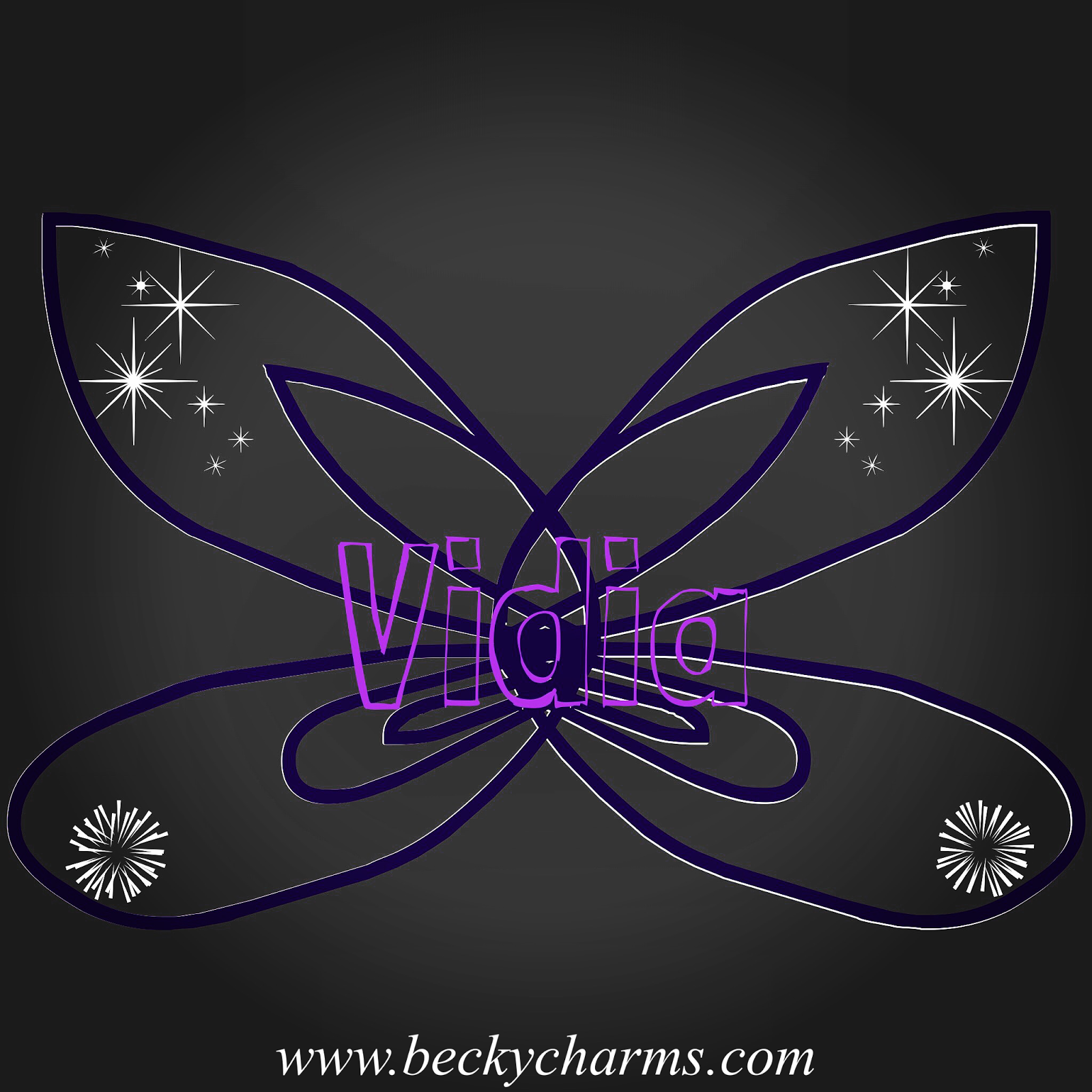 Disney Fairy Wings Vidia Graphic Art Recreate by BeckyCharms