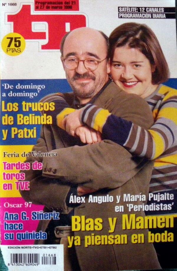 Álex Angulo y María Pujalte en la serie Periodistas