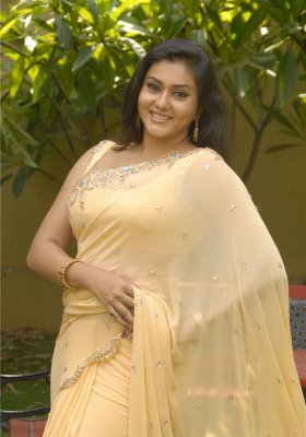 Actress Namitha Stills in Saree wallpapers