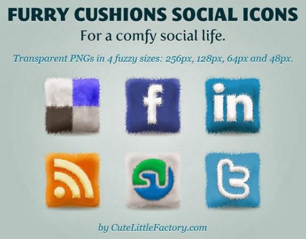 Furry Cushions Icon Set