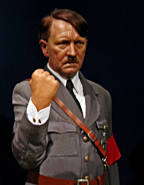 wax sculpture of Hitler at Tussauds