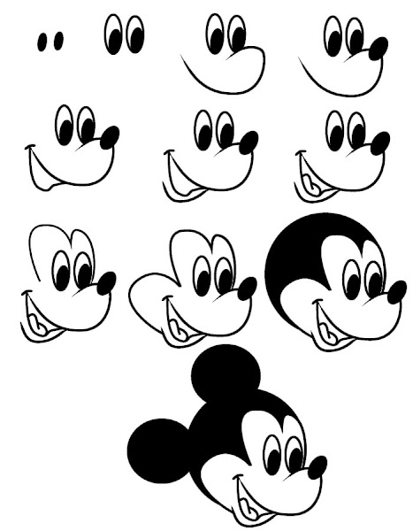 Steps On How To Draw Mickey Mouse Full Body