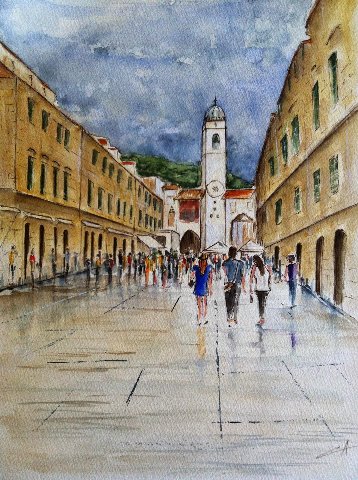 Rue principale de la vielle ville de Dubrovnik