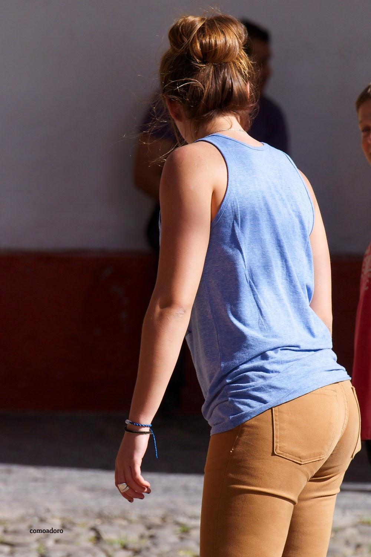 Lindo trasero en jeans