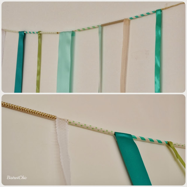 Green Rustic Christening party backdrop by Bistrotchic