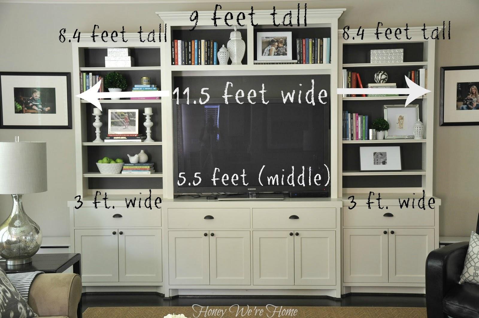 Painted media cabinet bookshelf styling home design for Media center with bookshelves