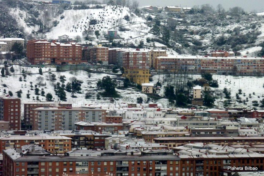 Paisaje urbano,nieve,Arangoiti