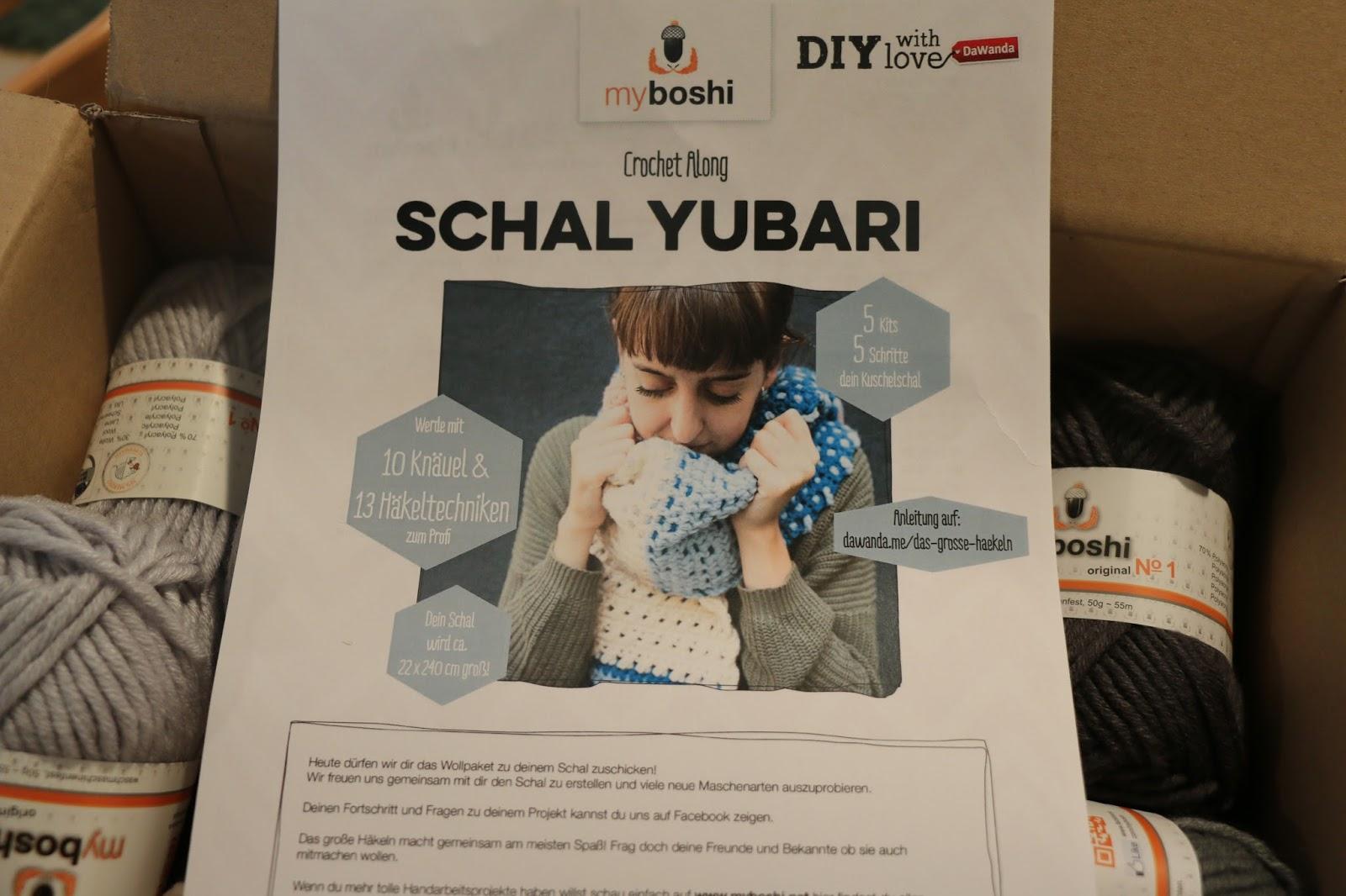 Krumme Naht Myboshi Schal Yubari Das Große Häkeln Ich Mach Mit