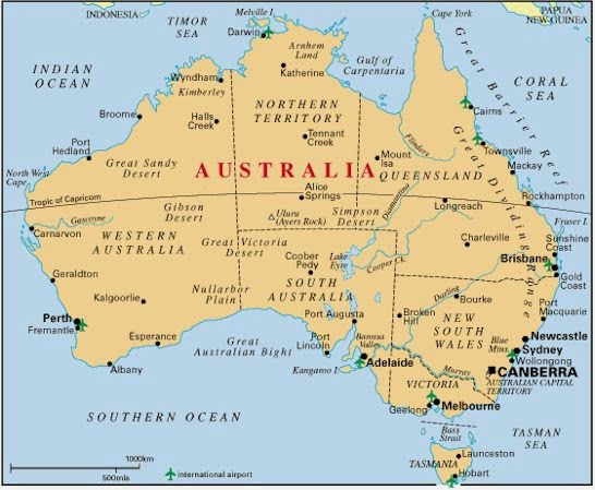 Map Of Australia With Cities Free Printable Maps - Australia cities map