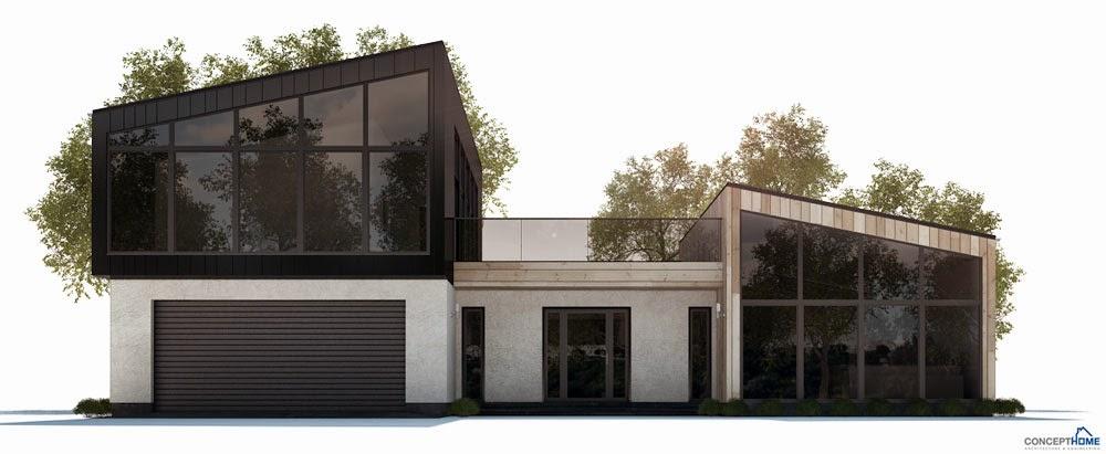 Ch285 modern beach house plan beach house plans for Modern beach house floor plans