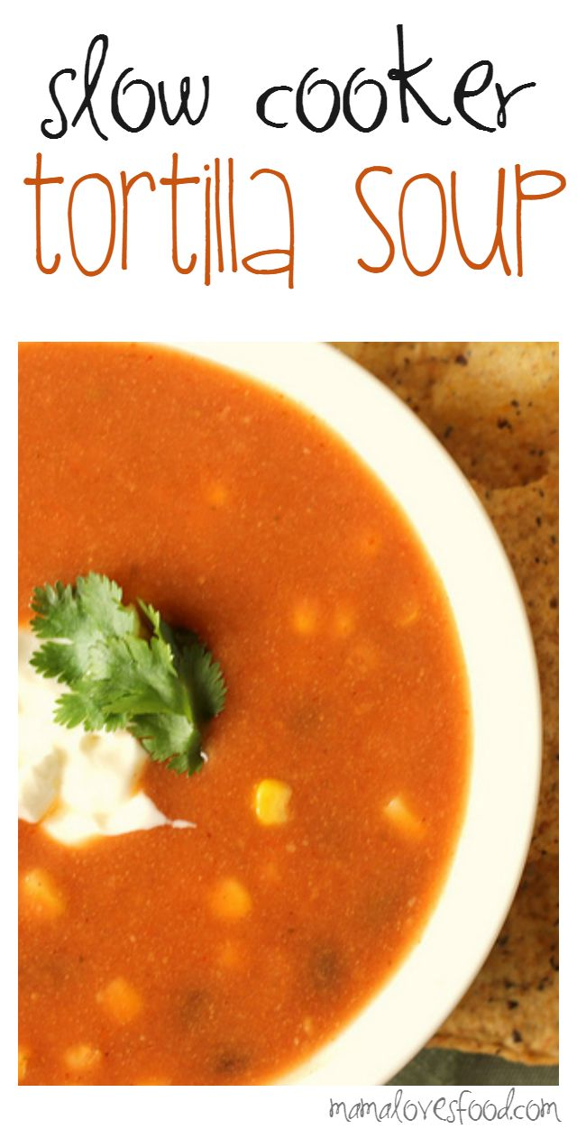 Tortilla Soup Recipe for the Crock Pot Slow Cooker.