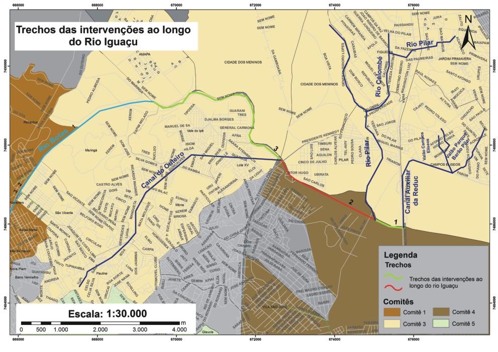 Área de Cobertura dos CLA/Rio Iguaçu - B.Roxo/D.Caxias - Bairros Lote XV, Pq.Amorim,Jd.Brasil,Pilar