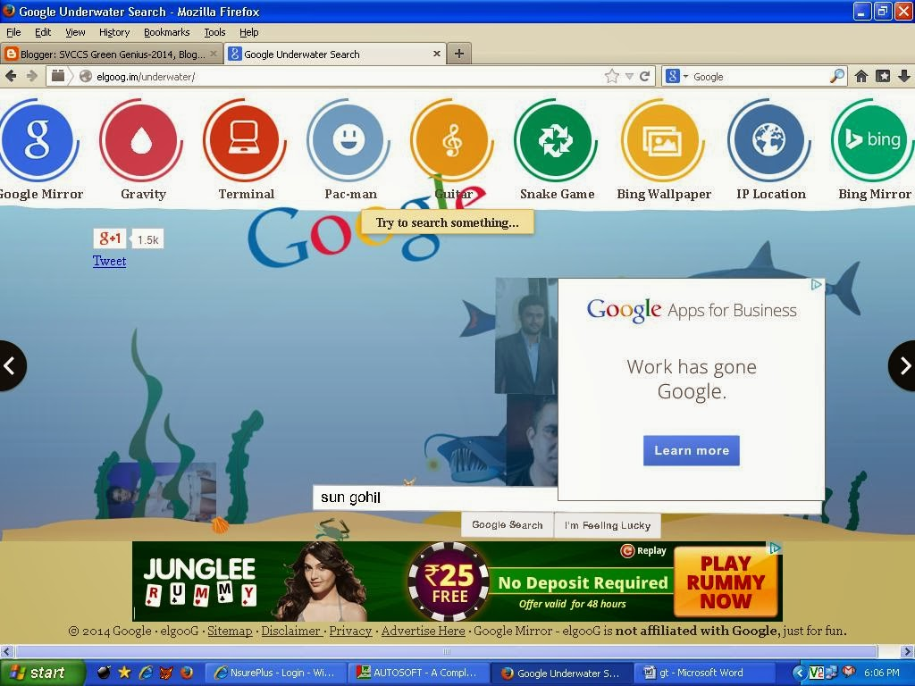 Google underwater mr doob - Google Underwater Search Engine With Amazing Effects Type Keywords And Search Just Enjoy It