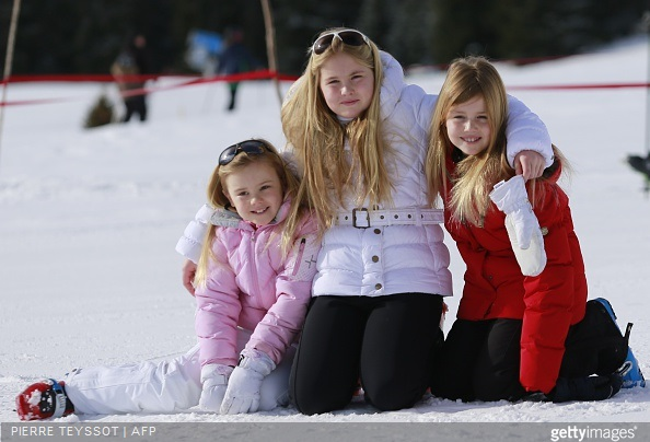 King Willem-Alexander of The Netherlands, Queen Maxima of The Netherlands and Princess Beatrix of The Netherlands and Princess Ariane of The Netherlands, Princess Alexia of The Netherlands, Princess Catharina-Amalia of The Netherlands
