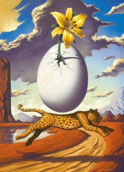 Jim Tsinganos ilustrações surreais oníricas natureza revista Guepardo
