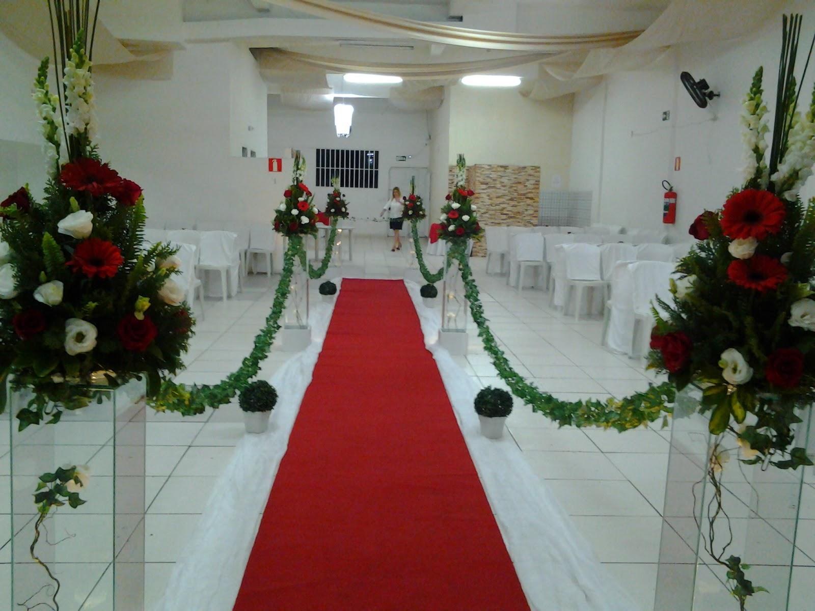 Decoraç u00e3o para Casamento Vermelho e Branco 18 05 2013 -> Decoração De Casamento Simples Vermelho E Branco