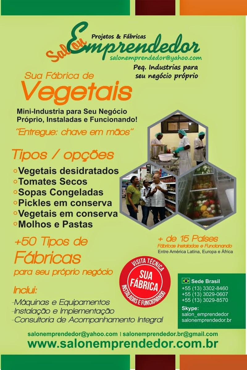 Fabrica p/ Processar Vegetais