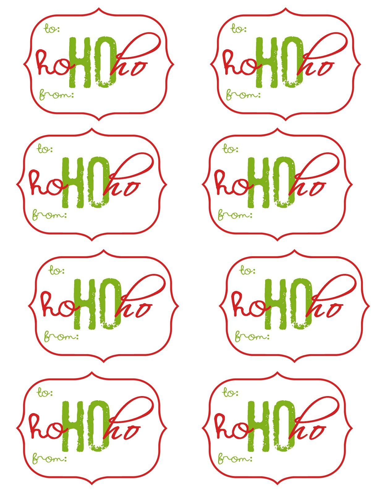 Slobbery image pertaining to free printable gift tags christmas