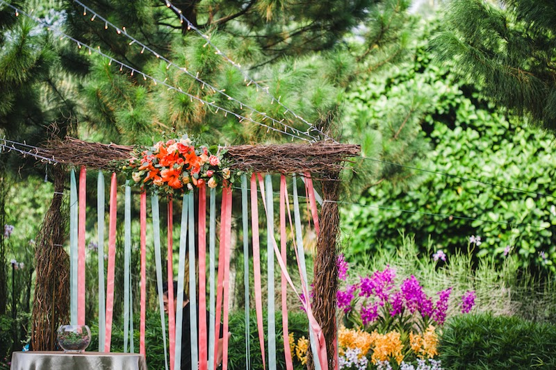 outdoor wedding at burkill hall