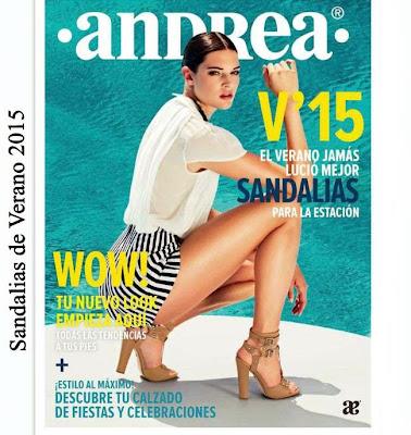Andrea Catalogo de Sandalias Verano 2015
