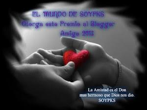 Gracias Soypks por el premio al Blogger