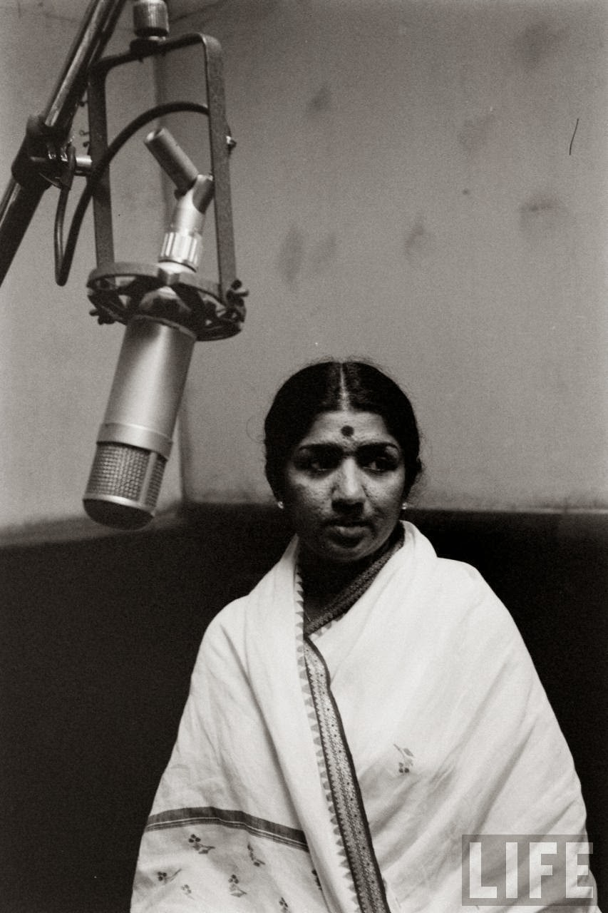 Lata Mangeshkar in Recording Studio - 1963