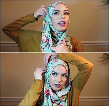Langkah Ketiga Tutorial Hijab Pashmina Omaya Zein