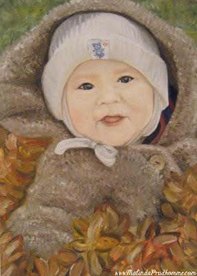 baby art, baby portrait, portrait artist, portrait painting, oil painting, custom portraits, custom art