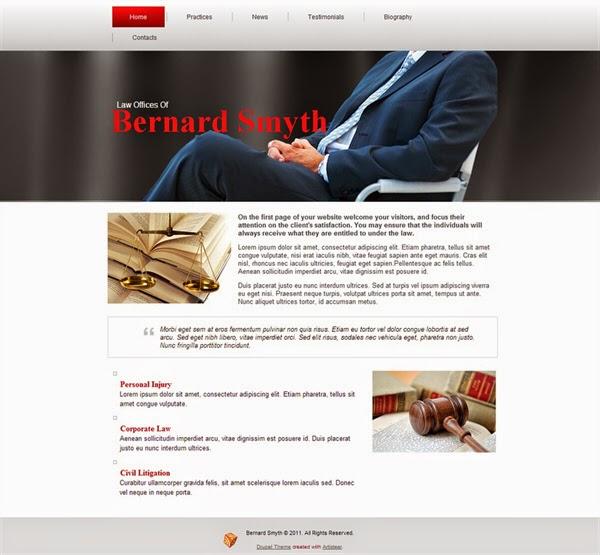 Bernard Smyth - Free Drupal Theme